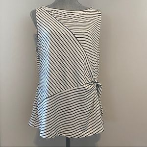 Banana Republic striped tank top white and black